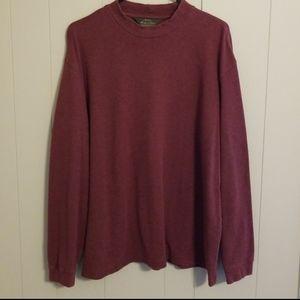 Orvis Men's Maroon Mock Neck Sweater